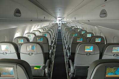 Foto de uma Cabine de Passageiros de um E-Jet
