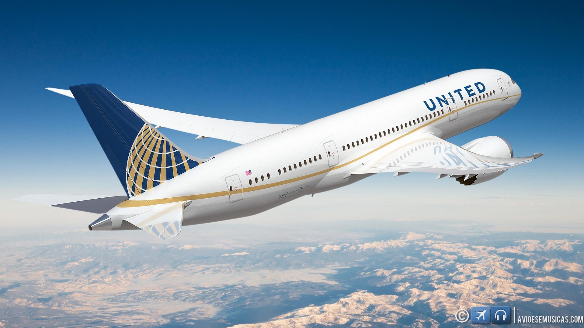 Wallpapre do Dreamliner 787 United