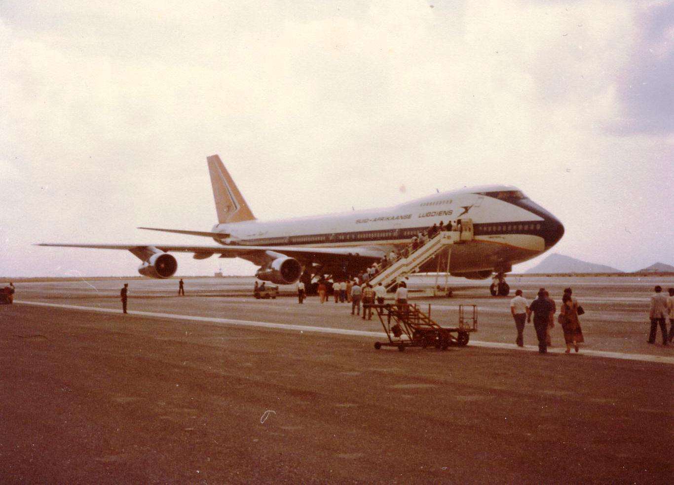 747 da SAA na Ilha do Sal