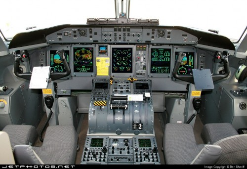 Cockpit Q-400