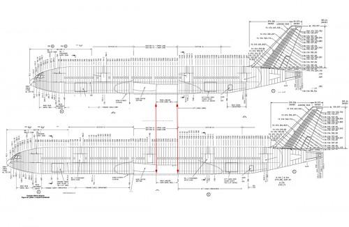 Comparação oficial entre 777-200 e 777-300