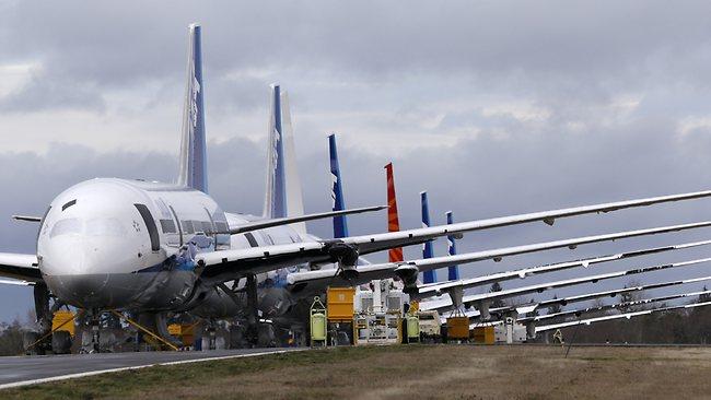 Dreamliners aguardando seu futuro - Foto AP