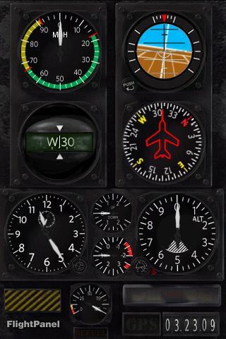 Tela do Flight Panel pro Android, que comprei e é bem legal para usar no painel do carro :)