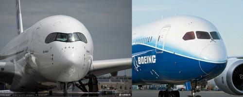 Nariz do A350 e do  787