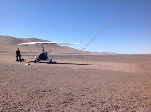 Pouso não programado no deserto do Atacama para fugir do mau tempo.