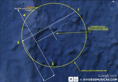Triangulação sobre o mapa