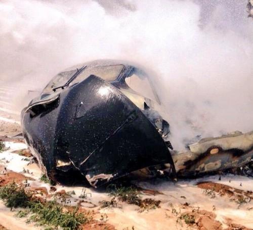 Seção frontal do A400M após o acidente
