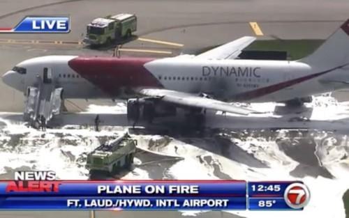 Acidente com um 767 em Fort Lauderdale